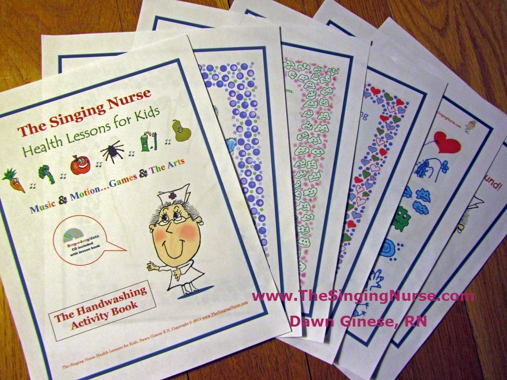 Hand Washing Activity book sample aug 2013 Dawn Ginese RN resized w TSN