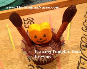 praising pumpkin man brownie