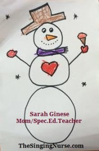 1 snowman complete w words