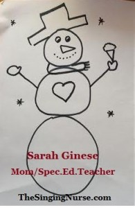 draw 1 snowman cropped w words