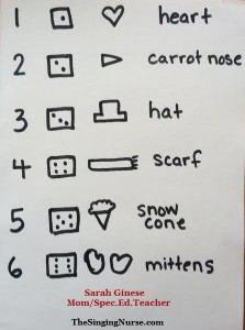 draw snowman instruction codes cropped w words