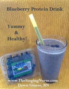 Blueberry Protein Drink, Dawn Ginese