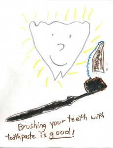 Toothbrush and Tooth