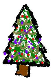 Christmas tree painted 09