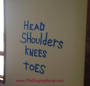 head and shoulders knees and toes