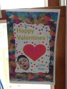 Valentine card w kian